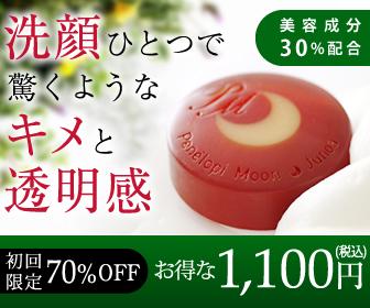 特別1,100円の洗顔石鹸【ペネロピムーン・ジュノア】をやっつけるのは簡単