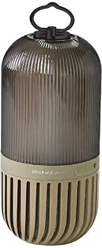 圧巻のSPICE OF LIFE(スパイス) ゆらぎカプセルスピーカー カーキ Bluetooth 防塵 防水 LED 充電式 CS2020KH
