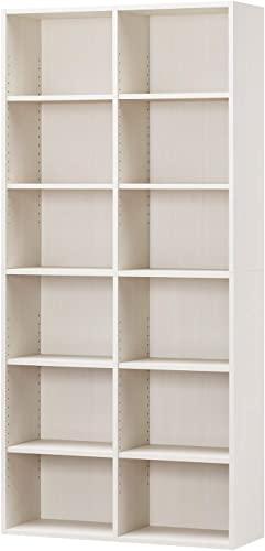 白井産業ラック 本棚 ホワイト 白木目 約 幅90 奥行30 高さ180 cm (AMZ-1890WH)宣言